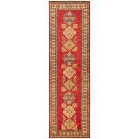 eCarpetGallery Finest Gazni Red Wool/ Cotton Hand-knotted Runner Rug (2'9x9'2)