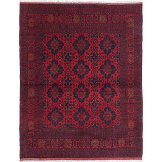 eCarpetGallery Finest Khal Mohammadi Red Wool Hand-knotted Rug (5'3 x 6'7)