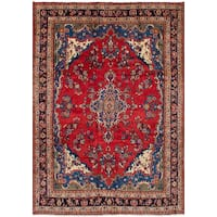 eCarpetGallery Hamadan Red Hand-knotted Wool Rug (7'0 x 10'3)