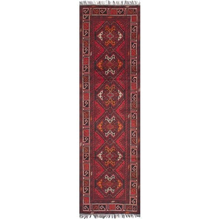 eCarpetGallery Khal Mohammadi Red Wool Hand-knotted Rug (2'9 x 9'5)