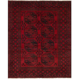 eCarpetGallery Khal Mohammadi Red Wool Hand-knotted Rug (5'1 x 6'4)