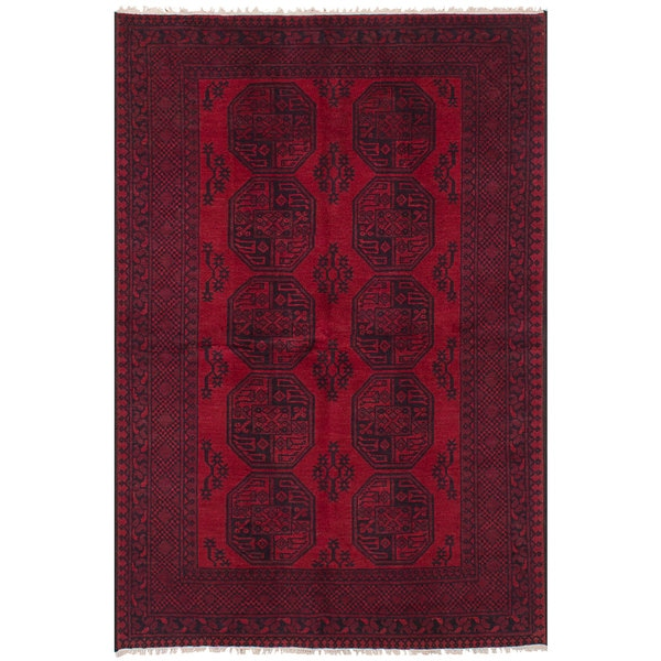 Ecarpetgallery Red Wool Hand Knotted Khal Mohammadi Rug 5 X27