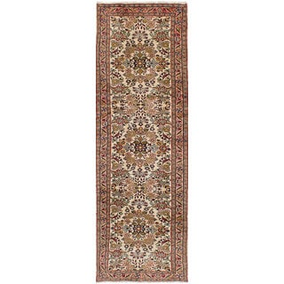 eCarpetGallery Lilihan Ivory Hand-knotted Wool Rug (2'7 x 9'0)