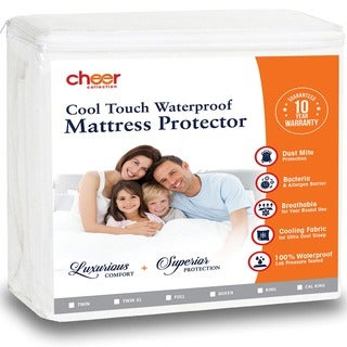 Cheer Collection Cool Touch Air Flow Waterproof Mattress Protector