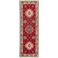 eCarpetGallery Hand-knotted Royal Kazak Red Wool Rug - 2'10x8'3