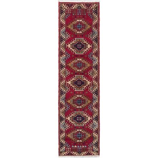 eCarpetGallery Royal Kazak Red Wool Hand-knotted Runner Rug - 2'8 x 9'8