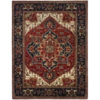 eCarpetGallery Hand-knotted Serapi Heritage Brown Wool and Cotton Rug - 9'3 x 12'