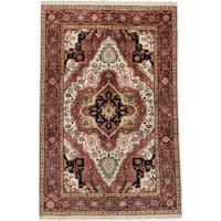 eCarpetGallery Hand-knotted Serapi Heritage Red Wool and Cotton Rug - 5'11 x 9'0