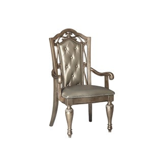 Valencia Platinum Glam Arm Chair