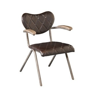 Brooklyn Vintage Metal Chair with Diamond Quilting