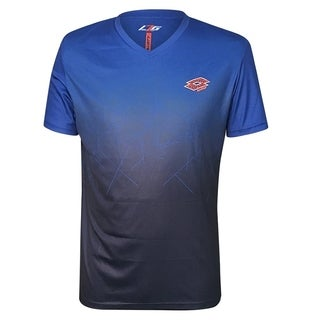 Lotto Athletic Men's Performance Knit Short Sleeve Tee Shirt For Jogging, Gym, Soccer, Sports