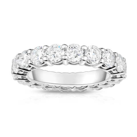 Noray Designs 14K White Gold Diamond (4.00 Ct-5.00 Ct, G-H Color, SI2-I1 Clarity) Eternity Ring - White G-H - White G-H
