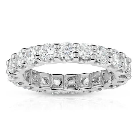 Noray Designs 14K White Gold Diamond (2.85-3.15 Ct, G-H Color, SI2-I1 Clarity) Eternity Ring - White G-H - White G-H