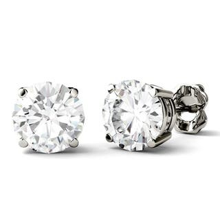 Charles & Colvard 14k White Gold 3ct DEW Round Forever One Colorless Moissanite Stud Earrings https://ak1.ostkcdn.com/images/products/17040287/P23317460.jpg?impolicy=medium