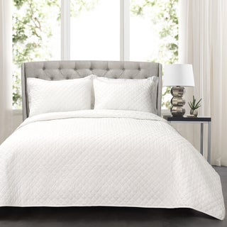 Maison Rouge Valois Diamond Oversized Cotton 3-piece Quilt Set