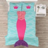 Lush Decor Mermaid Ruffle 3-piece Quilt Set