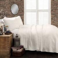 The Gray Barn Watertop Pom Pom Stripe 3-piece Quilt Set