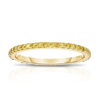Noray Designs 14K Yellow Gold Yellow Diamond (0.40 Ct, Yellow Color, I1-I2 Clarity) Eternity Wedding Band