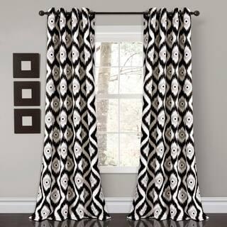 Lush Decor Diamond Ikat Room Darkening Window Curtain Panel Set 52x84