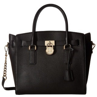 Michael Kors Hamilton Large East West Black Satchel Handbag