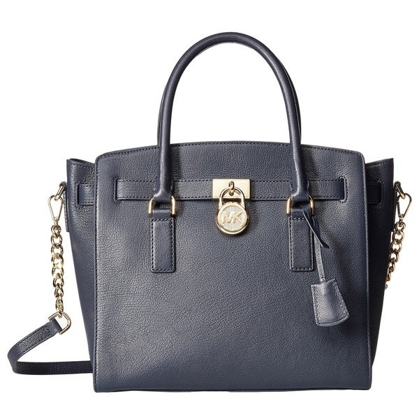 Michael Kors Hamilton Large East West Admiral Blue Satchel Handbag
