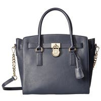 Michael Kors Hamilton Large East West Admiral Blue Satchel Handbag