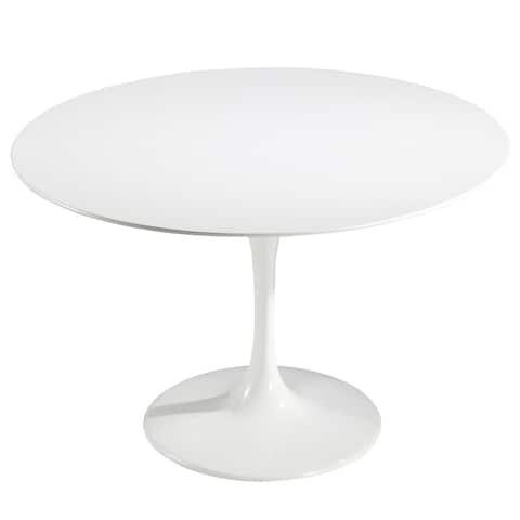 "EdgeMod Daisy 48"" Fiberglass Dining Table in White"