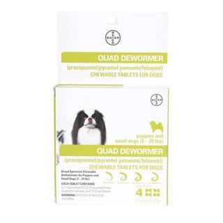 Dog Quad Dewormer, Chewable Tablets