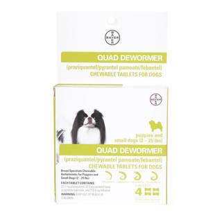 Dog Quad Dewormer, Chewable Tablets - Multi
