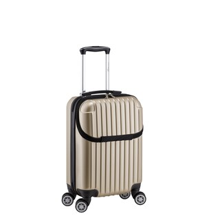 Euro Style Collection 22-inch Carry On Hardside 17-inch Laptop Spinner Suitcase (Option: Beige)