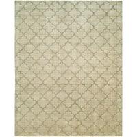 Avalon Chino Handmade Beige Wool and Viscose Area Rug - 12' x 15'