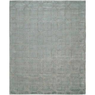 Avalon Crystal Blue Handmade Area Rug (12' x 15') - 12' x 15'