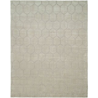 Avalon Pearl Grey Wool Handmade Area Rug (12'x15')