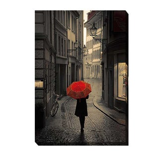 Stefano Corso 'Red Rain' Gallery-wrapped Canvas Giclee Art