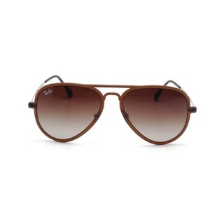 Ray Ban RB4211 Aviator Light Ray II Unisex Brown Frame Brown Gradient Lens Sunglasses