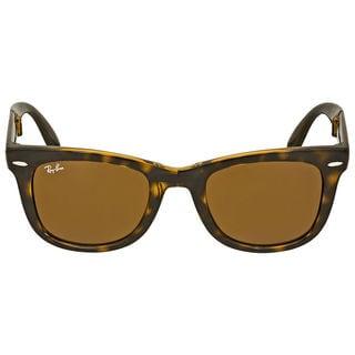 Ray-Ban Folding Wayfarer RB4105 Unisex Tortoise Frame Brown Classic G-15 Lens Sunglasses