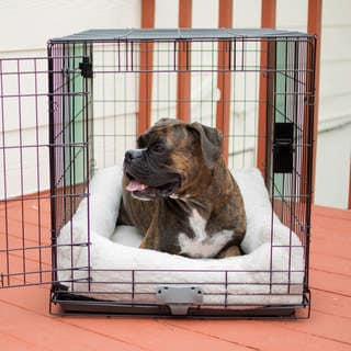 K&H Pet Products Deluxe Bolster Dog Crate Pad (Crate Sold Separately)