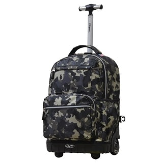 Olympia USA Melody Camo 19-inch Rolling Backpack