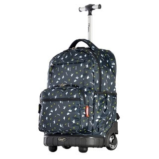 Olympia USA Melody Navy Penguin 19-inch Rolling Backpack