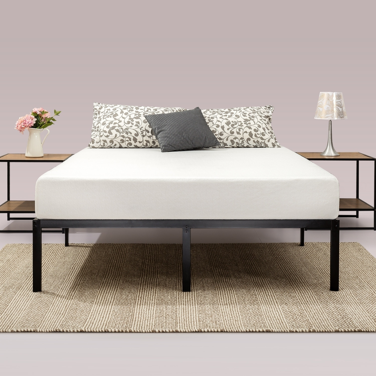 . Priage by Zinus 14 inch Classic Metal Platform Bed Frame