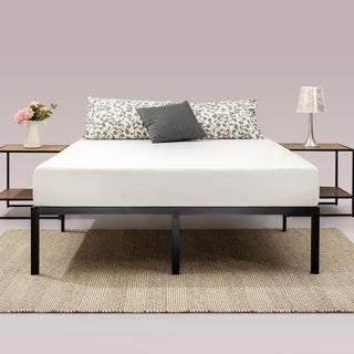 Priage by Zinus Black Steel 14-inch Platform Bed Frame