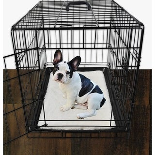Grey Faux Fur Dog Crate Mats (Crate Sold Separately)
