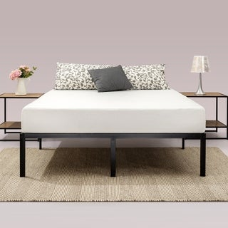 Priage Quick Lock 14-inch Metal Platform Bed Frame