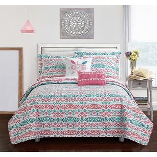Chic Home Dai Pink Reversible 9-Piece Bed in a Bag Set|https://ak1.ostkcdn.com/images/products/17040776/P23317907.jpg?impolicy=medium