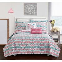 Chic Home Dai Pink Reversible 9-Piece Bed in a Bag Set