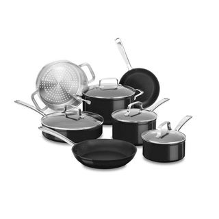 KitchenAid Hard Anodized Non-Stick 11 Piece Set, Black Sapphire