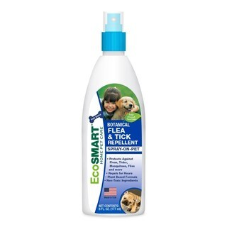 EcoSMART Organic Spray-On Dog, Flea and Tick Repellent, 6-Ounce