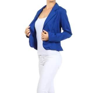 Women's Solid Blazer Style Jacket (Option: S)|https://ak1.ostkcdn.com/images/products/17041565/P23318607.jpg?impolicy=medium