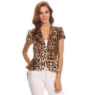Women's Cheetah Print Blazer Style Jacket