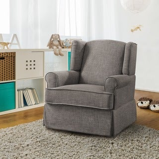 Furniture of America Tuleran Transitional Wingback Glider Rocker